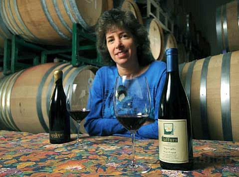 Leslie Thomas (shown here at Jaffurs Wine Cellars) organized the Wine & Dine program at Spiritland.