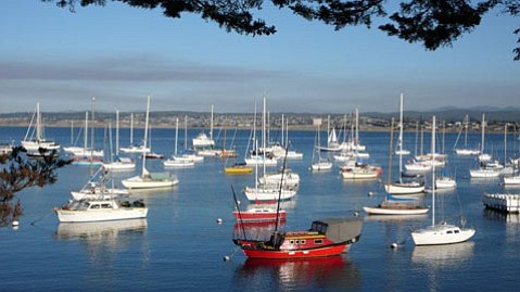 Boats float at Monterey