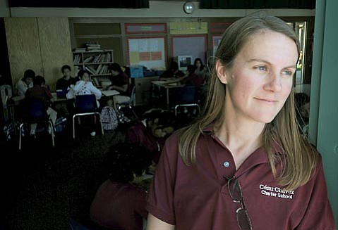 <strong>CASUALTY OF WAR?</strong> With a decisive vote by the school board on the fate of Cesar Ch¡vez Charter School less than a week away, the school's Governance Council announced last week that Principal Eva Neuer (pictured) had been fired.