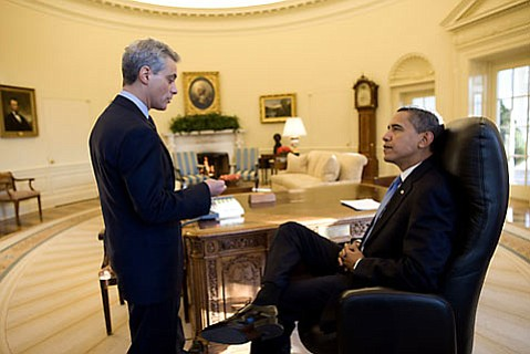 Rahm Emmanuel and Barack Obama