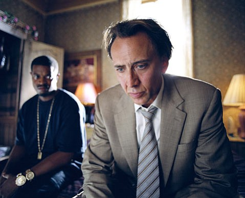 Nicolas Cage does his drugs, debts, and prostitutes thing as the main character in <em>Bad Lieutenant: Port of Call New Orleans</em>.