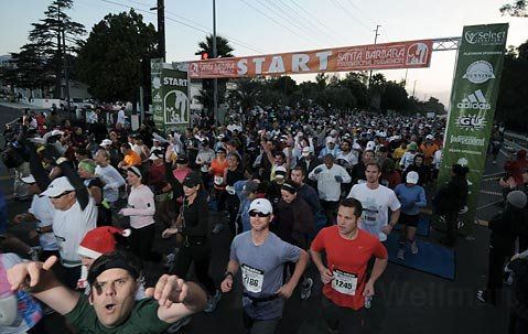 The start of the first Santa Barbara International Marathon