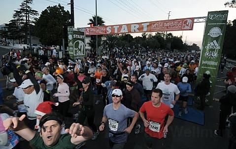The start of the first Santa Barbara International Marathon