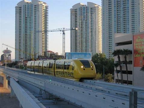 The Las Vegas Monorail at Sahara.