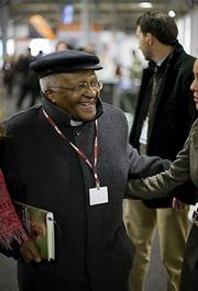 South Africa's Desmond Tutu in the house.