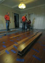 McCarthy Building Co installs a new hardwood floor at Casa Serena