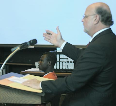 Defense attorney Robert Sanger representing Eric Frimpong in February 2008