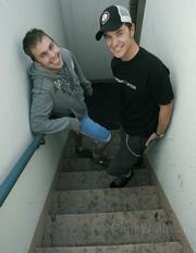 Adam and Spencer from KJEE's Morning Show