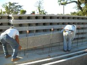 The Santandrea family home under construction using Hybrid Block building material.