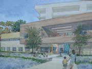 An artist's representation of what, upon completion, UCSB's new Ocean Science Education Building will look like.