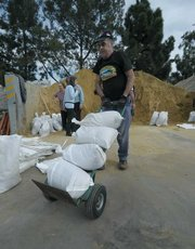 City of Santa Barbara opened its sandbag station at the Annex Yard at 401 E. Yanonali Street on Saturday Jan. 16, 2010