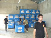 Sixty pallets of medical supplies arrive to Haiti from Direct Relief International.