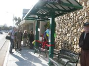 A new bus shelter was unveiled on Monday in Old Town Goleta outside of the Carpeteria store.