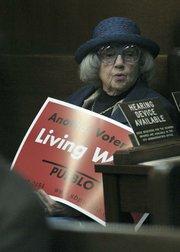 Selma Rubin attending a City Council meeting in 2004