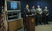 Santa Barbara Sheriff Bill Brown holds a press conference on the latest developments in the April 15, 2010 killing of Robert Simpson at Hendry's Beach.