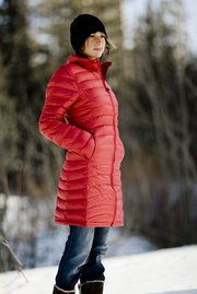 Patagonia's Fiona Jacket has been available right over at Wendy Foster. It's made of 100-percent recycled polyester with down filling.