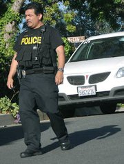 Police search for the the suspect involved in the La Cumbre Plaza robbery-kidnap.