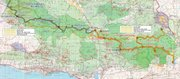 <strong>THE PROPOSED PATH:</strong>  The Condor Trail, as proposed, would lace through the Los Padres National Forest from Ventura County through Santa Barbara County and north to San Luis Obispo and Monterey counties.