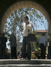 Matt Osgood at the Santa Barbara County Courthouse moments before the Naples property auction