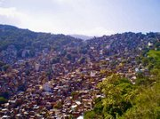 From inside Rocinha, near the bottom of its hill, the shear size of the community of more than 250,000 people - which doesn't nearly fit in a photograph - is overwhelming.