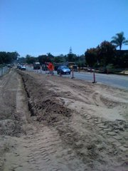 El Colegio Road during construction last year.