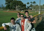 L to R Richie Casey, Conor Kenny, Ross Wyse and Ivan Barker are Foresters fans, hailing from Dublin, Ireland.