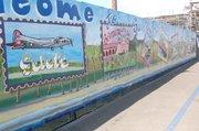 Airport mural