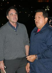 Oliver Stone and Hugo Chavez.