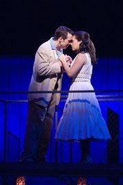 Mindy Lym as Maria and Zachary Ford as Tony in PCPA's <em>West Side Story</em> in Solvang.