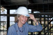 Representative Capps takes a tour of the new terminal during its construction