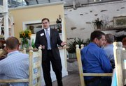 Greg Boller speaks at the Stella Mare fundraiser