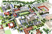 Rendering of Campus Quad.