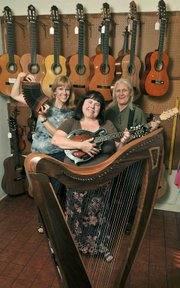 Folk Mote Music folks: Laurie Rasmussen, Nadine Bunn, and Cherie Chako (left to right).