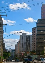 Unlike in Rio, a view down one street in São shows endless high rise buildings. There's not a beach or forest-matted hill in sight.