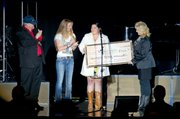 Check presented at The Judds Concert, December 16, 2010 by the Santa Ynez Band of Chumash Indians Foundation