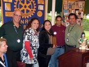Bill Boyd, Rotary President; Tina Jones, student's mother; Amanda Perez, Student of the Month; Amanda Daniels, Teacher; and David Velarde, Rotary Member.