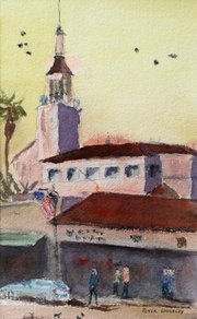 Arlington Tower by Peter Wors, a member of the Santa Barbara Art Association