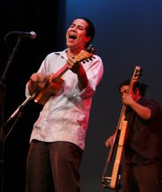 Alfredo Herrera and Juan Perez, appearing with Celso Duarte at the Marjorie Luke.