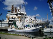 NOAA Ship Pisces, in the background