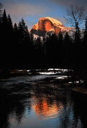 Half-Dome Winter Sunset
