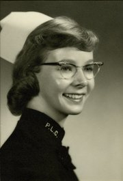Congressmember Lois Capps in 1959 when she received her nursing degree from Tacoma, Washington's Pacific Lutheran University. Capps often cites her experiences as a nurse when explaining her actions and also calls them the stepping-stones of why she got into politics.