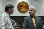 Mark Lee (left) and Steve Amerikaner at  City Planning Commission Aug. 24, 2006