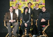 2011 SBIFF Directors Panel at the Lobero Theatre L to R Lee Unkrich (Toy Story 3), Charles Ferguson (Inside Job), Debra Granik (Winter's Bone), Tom Hooper (The King's Speech), David O. Russell (The Fighter), and Darren Aronofsky (Black Swan)