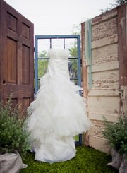 The dress from Molly and Mark Stuckey's wedding at a backyard private estate.
