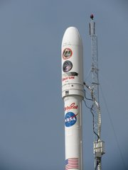 Taurus XL rocket with Glory satellite on top
