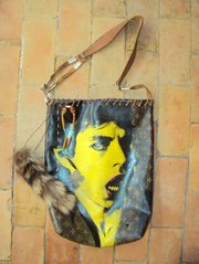 Mick Jagger bag by Jill Johnson and Wallace Piatt.