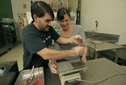 Mike Orlando and Elaine Madsen of Twenty-Four Blackbirds Chocolates.