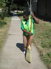 Nathalie Manyo at this weekend's cleanup