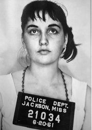 <strong>JAILED FOR A CAUSE:</strong>  Booking photo of Jorgia Siegel (before she was married) in Jackson, Mississippi, in 1961.
