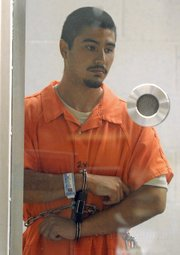 Murder suspect Benjamin Vargas during his arraignment, May 19, 2011
